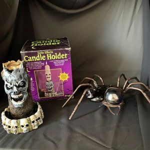 3/$25🎈 Eerie Effects & Spyder Candle Holders